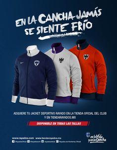 Y tú, ¿Ya tienes Jacket de #Rayados? Disponible en tres colores y todas las tallas en la #TiendaRayados, en línea con envío a todo #México.