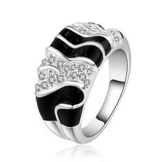 Hot Sale!!Free Shipping 925 Silver Ring Fashion Sterling Silver Jewelry,factory price,Chirstmas gift,Inlaid Stone Belt Ring R513