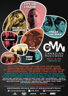 LOOK: Canadian Music Week Announces Initial Lineup For 2014