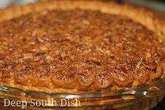 Deep South Dish: Classic Old Fashioned Southern Pecan Pie Deep South Dish: Classic, old-fashioned pecan pie from the south Pecan Pie Recipe Southern Living, Southern Recipes, Deep Dish Pecan Pie Recipe, Southern Meals, Cake Mix Recipes, Pie Recipes, Dessert Recipes, Dessert Ideas, Yummy Recipes