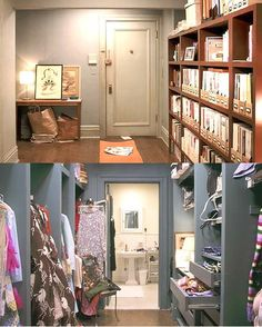 Storage in Carrie Bradshaw's apartment