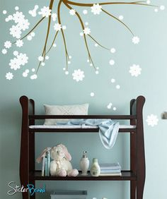 For above the crib??  Vinyl Wall Decal Sticker Hanging Floral Flower Blossom #274 | Stickerbrand wall art decals, wall graphics and wall murals.