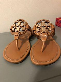 af95c0cc2b07ea NIB Tory Burch Tan Rose Gold Metal Miller Sandal Size 7.5  fashion  clothing