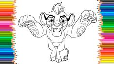 Kion Coloring Book The Lion Guard Coloring Pages Videos For Children Lea...