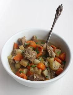 Beef and Vegetable Stew: olive oil, onion, parsnips, carrots, celery, garlic, fresh tarragon,  fresh rosemary,  1 pound lean beef top round roast, cut into 1-inch cubes, water,  fennel bulb, parsley,