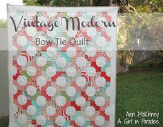 Moda Bake Shop: Vintage Modern Bow Tie Quilt