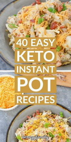40 Easy Instant Pot Keto Recipes You Must Try 40 Easy Keto instant pot re. 40 Easy Instant Pot Keto Recipes You Must Try 40 Easy Keto instant pot recipes that are easy, healthy, and delicious! These Keto instant pot recipes are a lifesaver! Healthy Dinner Recipes, Diet Recipes, Cooker Recipes, Chicken Recipes, Keto Chicken, One Pot Recipes, Healthy Instapot Recipes, Diet Desserts, Health Recipes