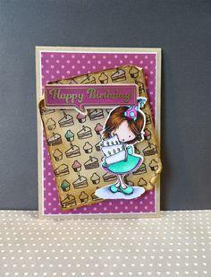 Scrap et Carte: Carte anniversaire gourmande