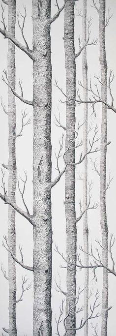 Cole et Son papier peint bois noir sur blanc deux par romolly