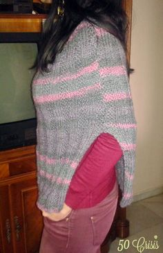 #DIY: Poncho de lana #knitting