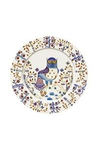 Porcelain plate with a folk art-inspired design. Handcrafted in Finland. Product: PlateConstruction Material: PorcelainColor: White and multiFeatures: Made in FinlandDesigned by Klaus Haapaniemi Dimensions: DiameterNote: Oven and dishwasher safe White Dinner Plates, White Plates, Blue Plates, Assiette Design, Enchanted Forest Theme, Magic S, Salad Plates, All Modern, Pottery