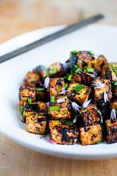 Black Garlic Tofu - vegan, GF, so delicious! Can be made in 15 minutes flat.