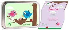 Geboortekaartje Birdy Meisje  http://www.originelegeboortekaartjes.nu/geboortekaartjes/geboortekaartjes-bliqje/