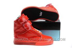 all red kid supra tk society high skate leather shoes Buy Nike Shoes, Discount Nike Shoes, Supra Shoes, Supra Footwear, Jordan Shoes For Kids, Michael Jordan Shoes, Air Jordan Shoes, Leather Shoes, Red Leather