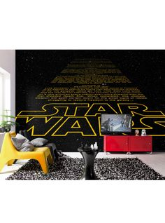 Fine Décor Komar Star Wars Intro wall mural is the perfect way to add some fun to your walls. Perfect for all Star Wars fans, old and young!