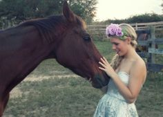 A girl and her horse. Www.Beyondaveil.etsy.com