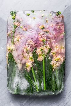 Inspiration -  Iced flower made by ARSUBLIME  #iced #flower #marble #madeinitaly