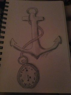 anchor of time drawing