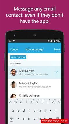 تحميل تطبيق مايكروسوفت الجديد البريد الالكتروني Send اندرويد وايفون  صورة للبرنامج