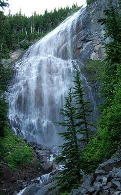 Spray Park, Mount Rainier National Park, Washington - - America's 11 best day hikes offer scenery and adventure. Beautiful Waterfalls, Beautiful Landscapes, Places To Travel, Places To See, Spray Park, Nature Landscape, Mount Rainier National Park, Les Cascades, Adventure Is Out There