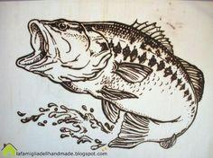 woodburning - fish pattern - Crafting Practice