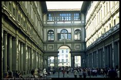 Courtyard of the Uffizi, Florence