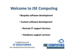 JSE Computing Ltd provides a wide area of  IT Services in Londonderry/Derry, Ulster , Coleraine , Limavady, Belfast and N. Ireland concentrating on bespoke software solutions and IT Consultancy. We also provide hardware and network support.For more information please visit: http://www.jsecomputing.com/services/