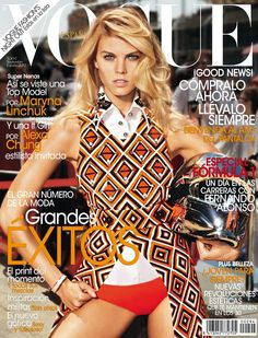 Cover with Maryna Linchuk September 2012 of ES based magazine Vogue Spain from Condé Nast Publications including details. Vogue Magazine Covers, Fashion Magazine Cover, Fashion Cover, Vogue Covers, Lara Stone, Alexa Chung, Vogue Fashion, Fashion Models, Anna