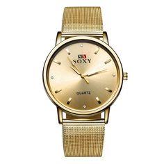 2ba350e48e5 Gold Women Quartz Watches. Fashion Gold Watch Women Elegant Crystal Casual  ...