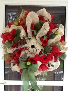 burlap wreath   Burlap Wreath