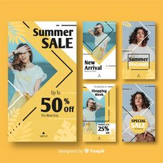 Modern sales banner for social media Vector Instagram Grid, Instagram Design, Graphic Design Posters, Graphic Design Inspiration, Magazine Ideas, Posters Conception Graphique, Instagram Post Template, Sale Banner, Social Media Design