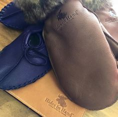 """We ranked 1st on Google for """"Canadian Leather"""" search results! #hidesinhand #canadian #handmade #leather #deerskin #purple #brown #saddletan #mitts #ballet #moccasins #journal #love Deerskin, Handmade Leather, Moccasins, Ballet, Journal, Purple, Search, Brown, Google"""