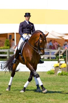 Olympic Dressage rider Robert Dover at the Hampton Classic #equestrian