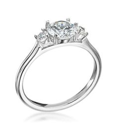 Mark Patterson - Promise Collection Platinum 3-Stone Setting