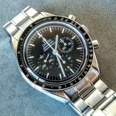 Sleek #modern #chronograph #omega #speedmaster #moonwatch just arrived at www.watchvaultnyc.com #watch #watches #watchporn #omegawatches