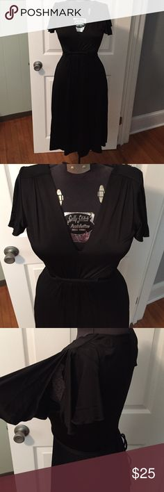 M by Madonna for H & M black silk jersey dress Great condition from Madonna's 2007 collection for H & M M by Madonna H & M Dresses