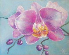 """Орхидея """"портрет одного цветка""""   Творчество - авторская работа на Uniqhand"""