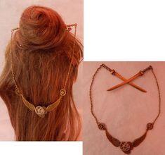 Cute Jewelry, Hair Jewelry, Etsy Jewelry, Steampunk Accessories, Hair Accessories, Steampunk Hairstyles, Steampunk Heart, Chopstick Hair, Hair Sticks
