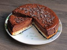 Tarta de queso con chocolate y coco – Coconut and chocolate cheesecake