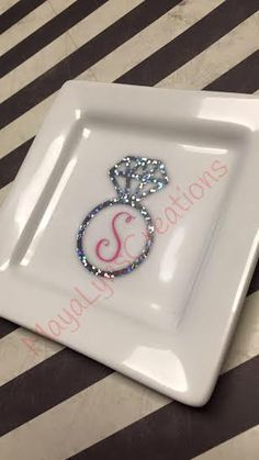 Great for valentines day! Monogrammed Ring Dish, jewelry dish, personalized gift by MayaLynsCreations on Etsy