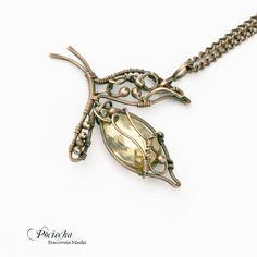 Butterfly - naszyjnik z wisiorem (proj. Pracownia miedzi - Pociecha), do kupienia w DecoBazaar.com