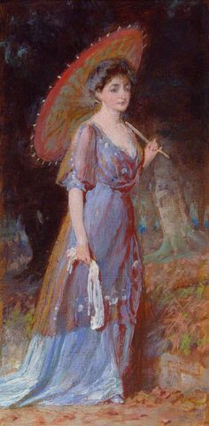 Lady with Parasol George Elgar Hicks (1824–1914) Southampton City Art Gallery