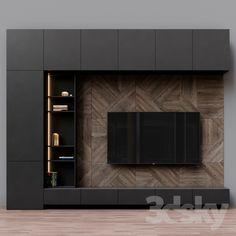 models: Other - TV Zona 39 unit furniture TV Cabinets unit furniture TV Cabinets unitesi tv unit Contemporary Tv Units, Modern Tv Wall Units, Modern Tv Unit Designs, Contemporary Homes, Contemporary Bathrooms, Tv Unit Decor, Tv Wall Decor, Wall Tv, Wall Mounted Tv Unit