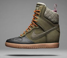 The wedge soled Nike Dunk Sky Hi, a reworking of the classic Dunk is being given a winterized makeover this...