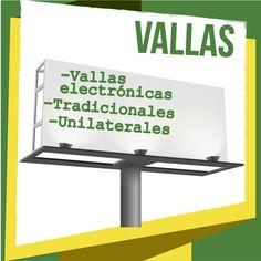 En #VallasyAvisos tenemos un portafolio con gran variedad de servicios. Las #Vallas son unos de los servicios más apetecidos. ¡Conócelas¡: #VallasElectronicas #VallasTradicionales #VallasUnilaterales #VallasUnipolares
