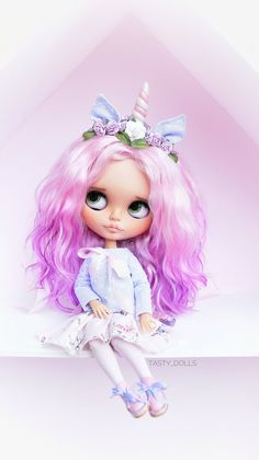 Excited to share the latest addition to my shop: Dont pay Alika Unicorn doll TBL OOAK Custom Blythe Doll collectible dolls Blythe Elf Unusual doll Blythe Decor Gift curving handmade Ooak Dolls, Blythe Dolls, Art Dolls, Handmade Clothes, Handmade Gifts, Handmade Ideas, Handmade Dolls, Unicorn Doll, Kawaii