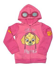 Hot Pink Paw Patrol Skye Zip-Up Hoodie - Toddler