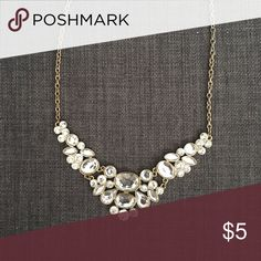 Gold + Silver Rhinestone Necklace Great necklace to give any basic top some extra sparkle! Jewelry Necklaces