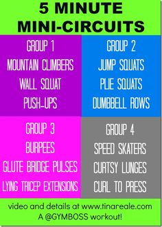 5 Minute Mini Circuits using your Gymboss!