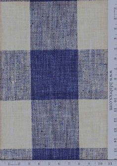 """Check Please  Color  Lakeland    Repeat9"""" Repeat  Width54""""  Content100% Polyester  UseDrapery, Upholstery  TAGSBlue, Buffalo"""